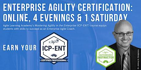 ICAgile Mastering Agility in the Enterprise (ICP-ENT) | Online | Apr 2021 bilhetes