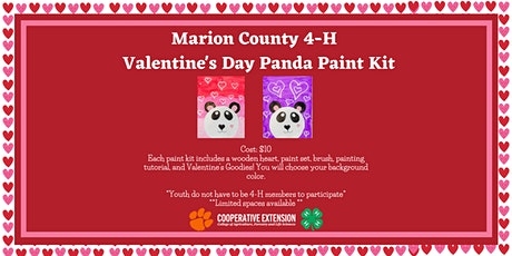 Marion  County  4-H Valentine's Day Panda Paint Party tickets
