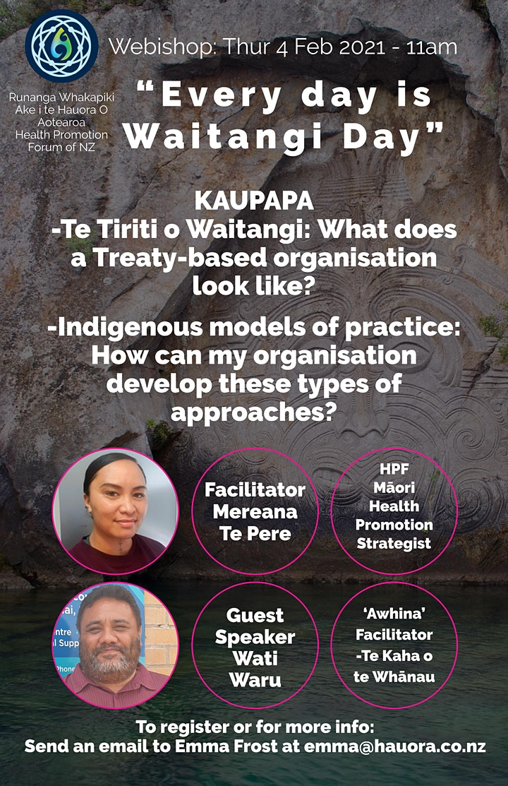 Māori Health Promotion: Every day is Waitangi day image