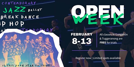 Open Week FREE classes tickets