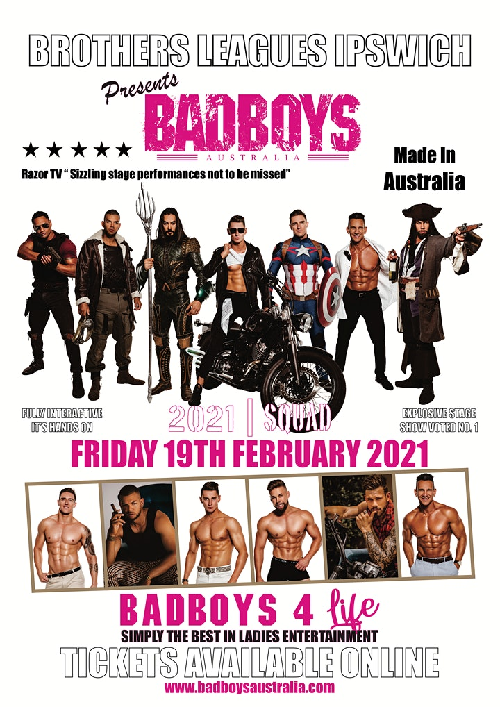 Badboys Australia at Brothers Leagues Club Ipswich 2021 Ladies we're coming image