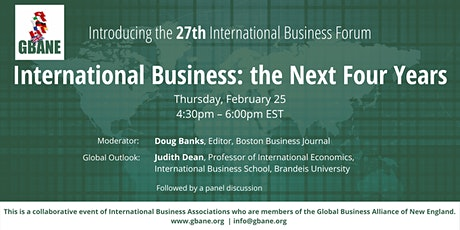 International Business: the Next Four Years tickets