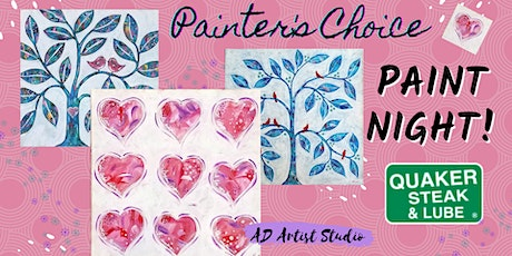 Sweet Hearts or Tree Paint Night tickets
