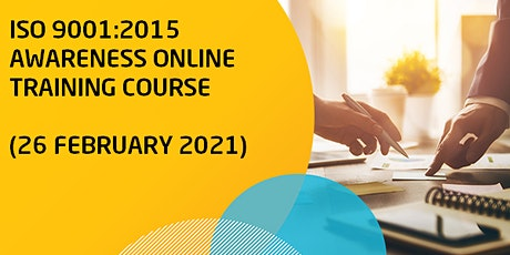 ISO 9001: 2015 Awareness Online Training Course tickets