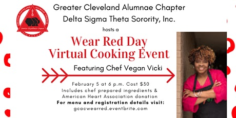 Wear Red Day Virtual Cooking Event tickets