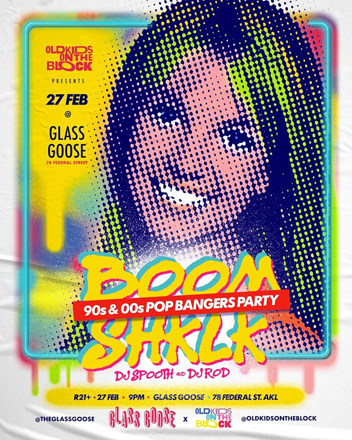 BOOMSHKLK - 90s and 00s Bangers Party | 27 Feb at GLASS GOOSE image