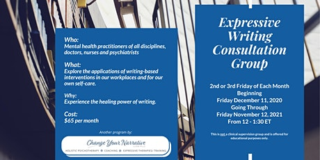 Expressive Writing Consultation Group tickets