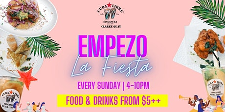 Empezo La Fiesta at Cuba Libre Clarke Quay With Food & Drinks from $5++ tickets