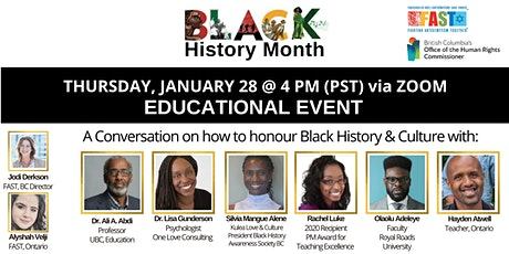 Black History Month Panel Conversation - Lessons for February tickets