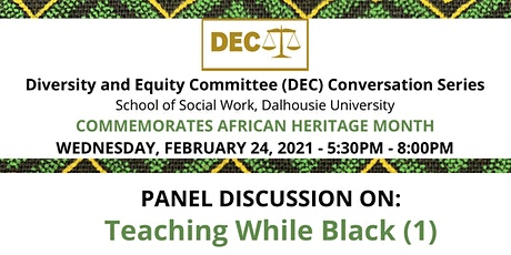 Panel Discussion on Teaching While Black (1) tickets