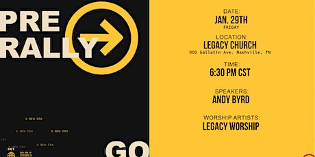 THE SEND - Pre Rally at Legacy Church tickets
