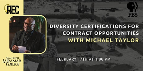 Diversity Certifications for Contract Opportunities with Michael Taylor tickets