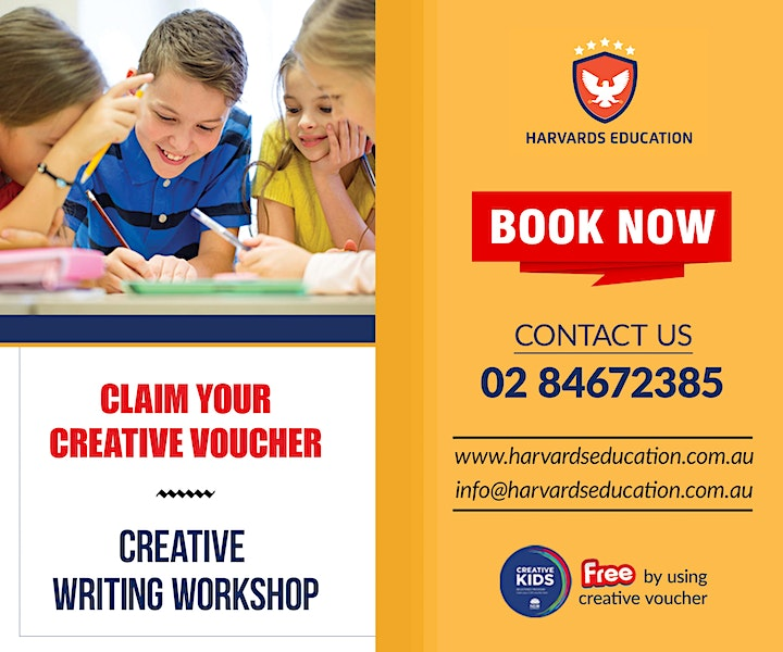 Kids Creative Writing Workshop at Blacktown[Level 1:7-12], [Level 2 :13-15] image