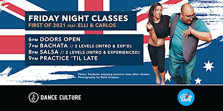 Friday Night Classes // Australia Day Edition // Salsa & Bachata tickets
