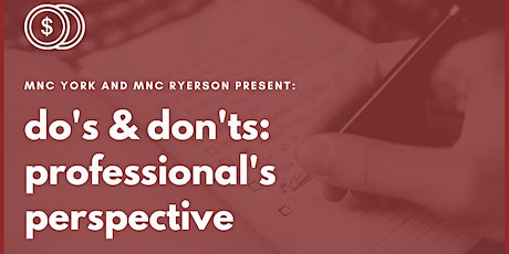 do's & don'ts: professional's perspective tickets