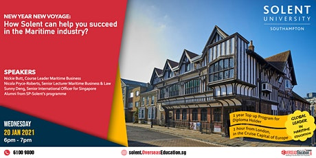 New Year, New Voyage: Succeed in Maritime Industry with Solent University tickets