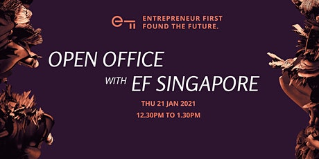 EF Singapore January 2021 Virtual Open Office tickets