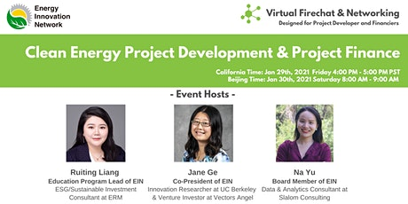 [Virtual Firechat & Networking] Clean Energy Project Finance tickets