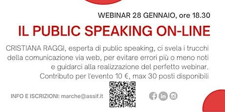 Il public speaking on-line biglietti
