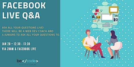 Facebook Live Q&A tickets