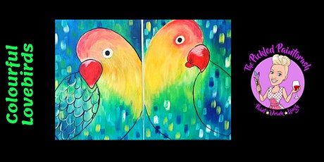 Painting Class -  Colourful Love Birds - February 21, 2021 tickets