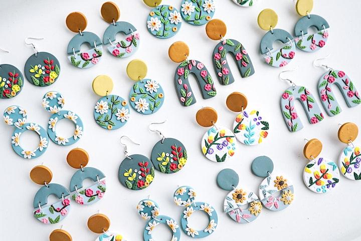 Polymer Clay Earrings Workshop image