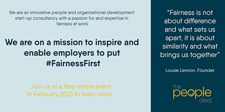 Introduction to 'Fairness at Work' – What, why  and where to start! tickets
