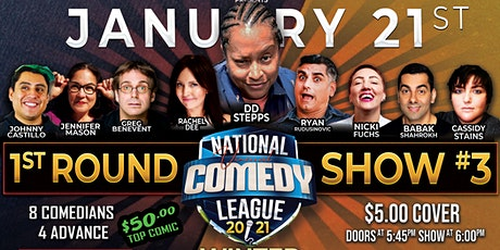 National Virtual Comedy League: Round 1 - Show #3 - THU 1/21 at 6 pm PST tickets