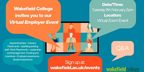 The Wakefield College Employer Event tickets