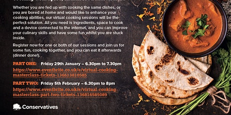 Virtual Cooking Masterclass (PART TWO) tickets