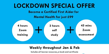 First Aid for Mental Health - One day Online -  Accredited Course tickets