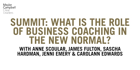 Summit: What is the role of business coaching in the new normal? tickets