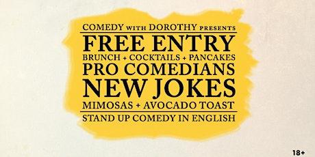 FREE ENTRY pro comedians NEW JOKES mimosas for lun entradas