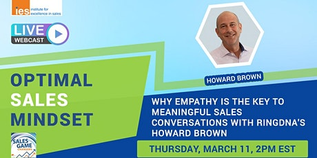 OPTIMAL SALES MINDSET: The Key to Meaningful Sales Conversations w/ H Brown tickets