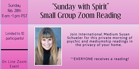 Small Group ZOOM Psychic and Mediumship Readings with Susan tickets