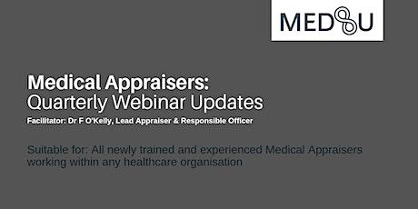 Medical Appraisers - FREE Quarterly Update Webinar - 6 September 2021 billets