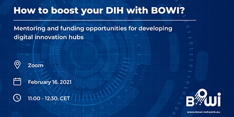 Digital Innovation Hub Opportunities Within BOWI Project v2.0 tickets