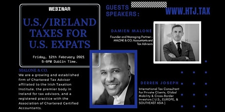 Webinar on U.S./ Ireland Taxes for Expats ( Dublin, Ireland Time) tickets