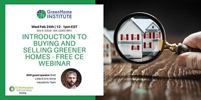 Introduction to buying and selling greener homes  – Free CE Webinar