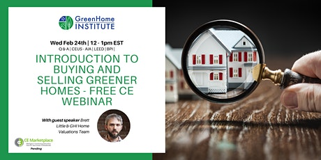 Introduction to buying and selling greener homes  - Free CE Webinar tickets