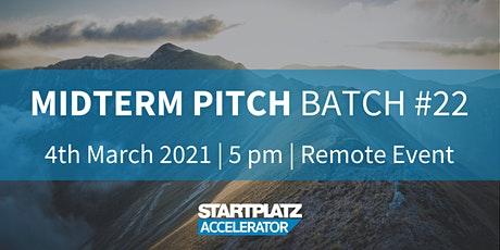Midterm Pitch -  Batch 22 - STARTPLATZ Accelerator Tickets