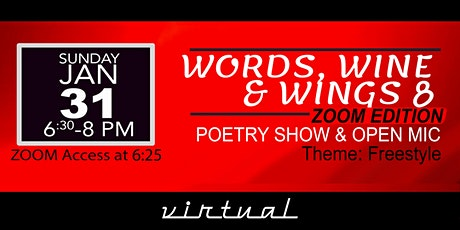Words Wine & Wings 8 -Zoom Edition tickets