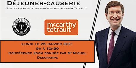 Déjeuner-causerie avec McCarthy Tétrault tickets