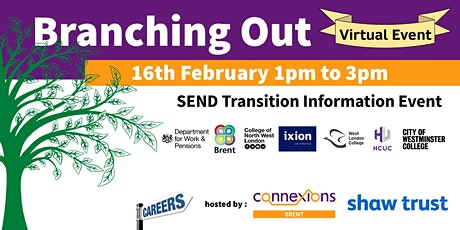 Branching Out - SEND Transition Information Event (Online) tickets