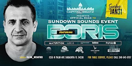 Boris Road to Sundown sounds cruise Rooftop getaway tickets