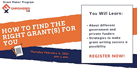 How To Find the Right Grant(s) For You tickets