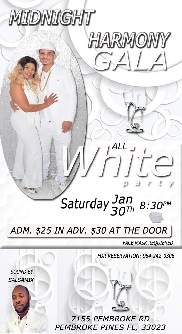 Salsa Midnight Harmony Gala - All White Party image