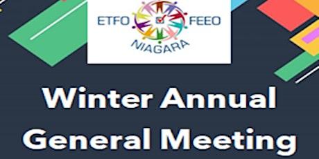 ETFO Niagara  Virtual Winter AGM 2021 tickets