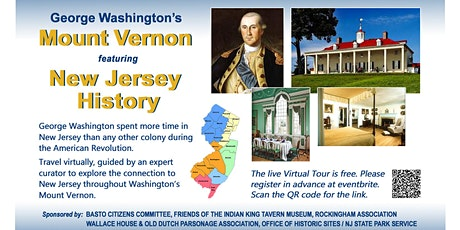 Virtual VIP Tour of George Washington's Mount Vernon featuring New Jersey H tickets
