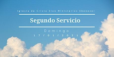 Segundo servicio Domingo 17/01/2021 entradas
